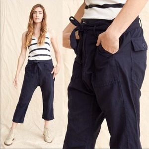 The Great. Convertible Trouser Pants M Navy